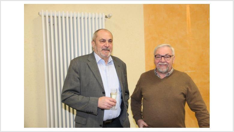 Alt-Bürgermeister Hans-Uwe Schneider u. CDU-OV-Vorsitzender Bierfeld, Herrmann Maurer
